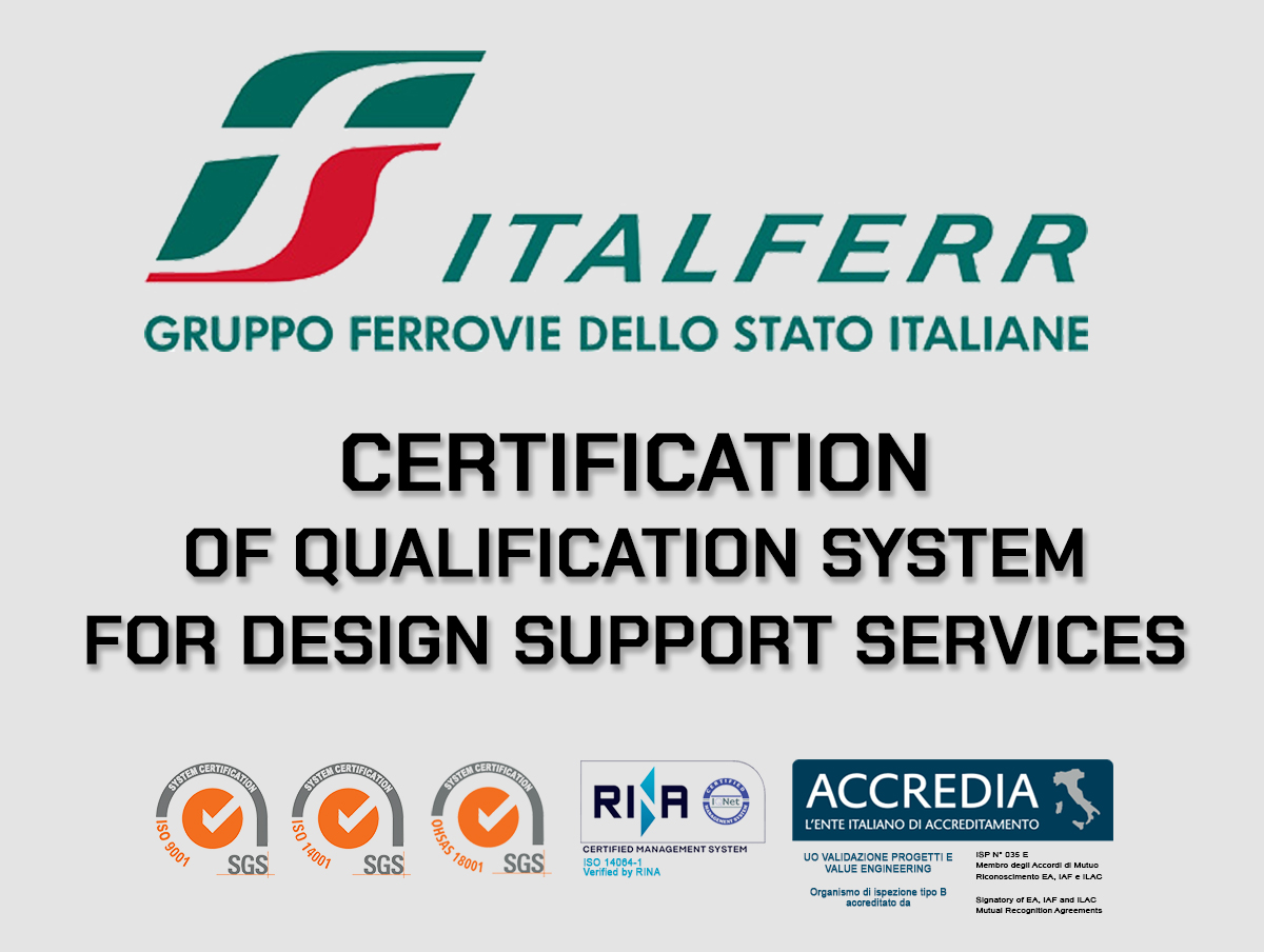 ITALFERR - Certification of Qualification System for Design